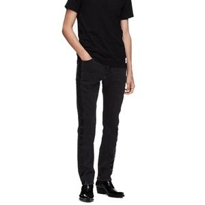 Calvin Klein Jeans Mens Slim Leg Side Stripe Jeans
